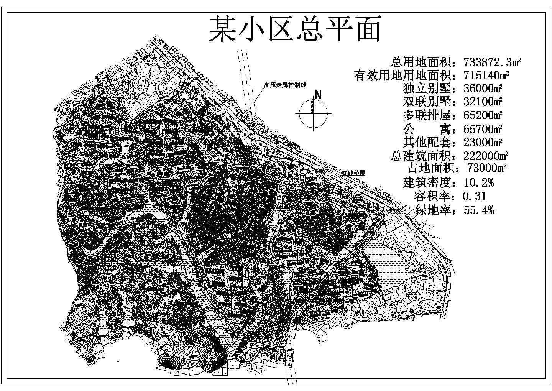某别墅住宅区总平面规划图图片1