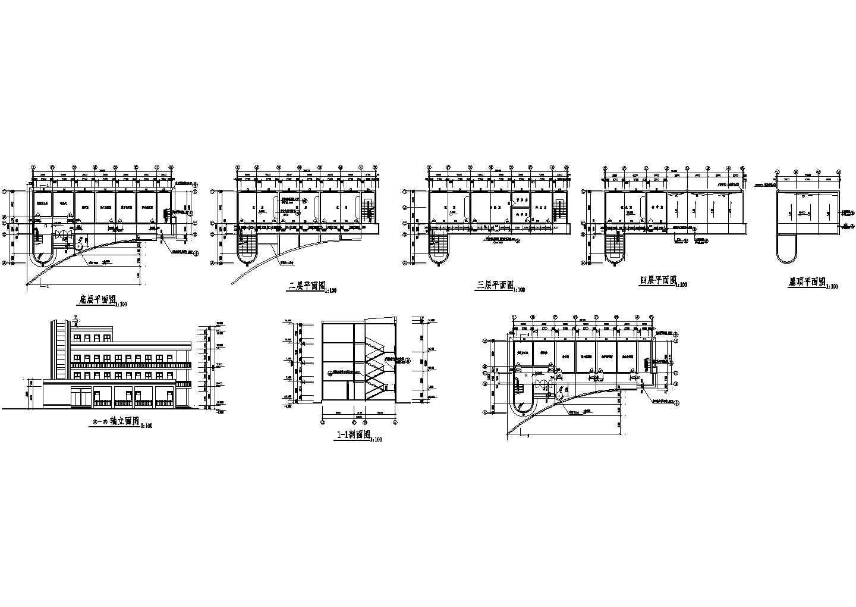 一套小学四层教学楼施工图图片1