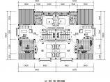 92平方米框架结构农村别墅设计cad图图片1