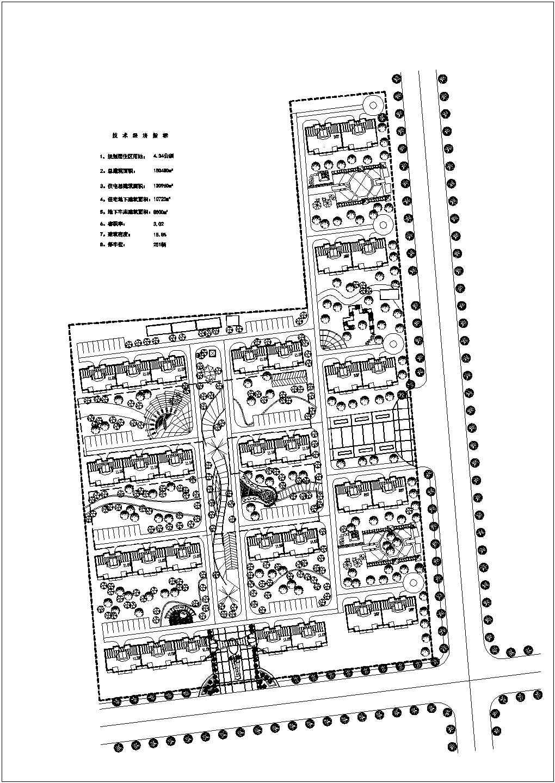 某十几万平米小区(含住宅、地下车库)规划总平面图图片1