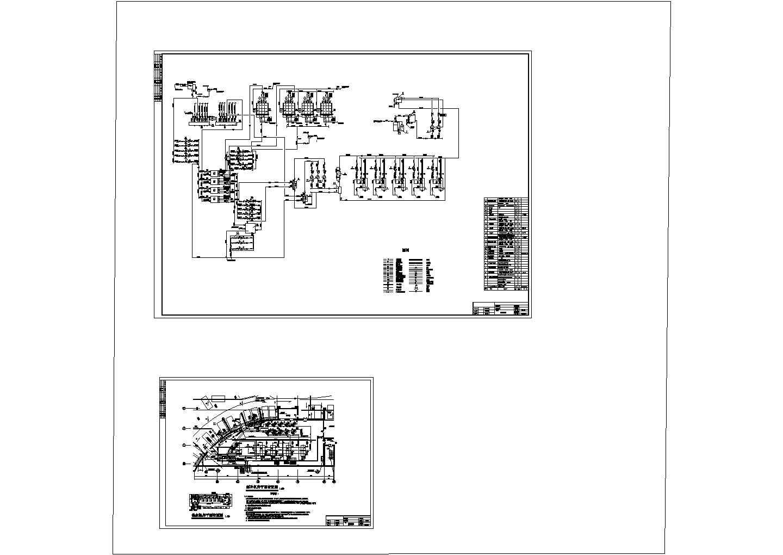 某地区余热回收冷热水系统设计图纸图片1