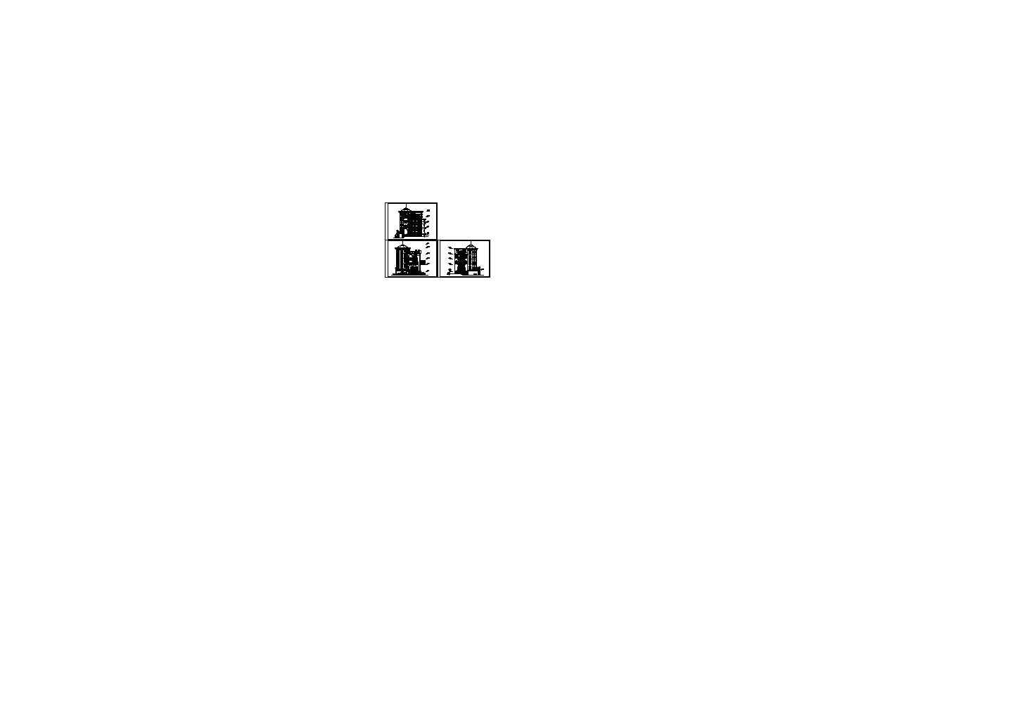 某多层经典别墅建筑立面图图片1