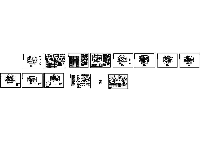 某二层半别墅结构设计图纸图片1
