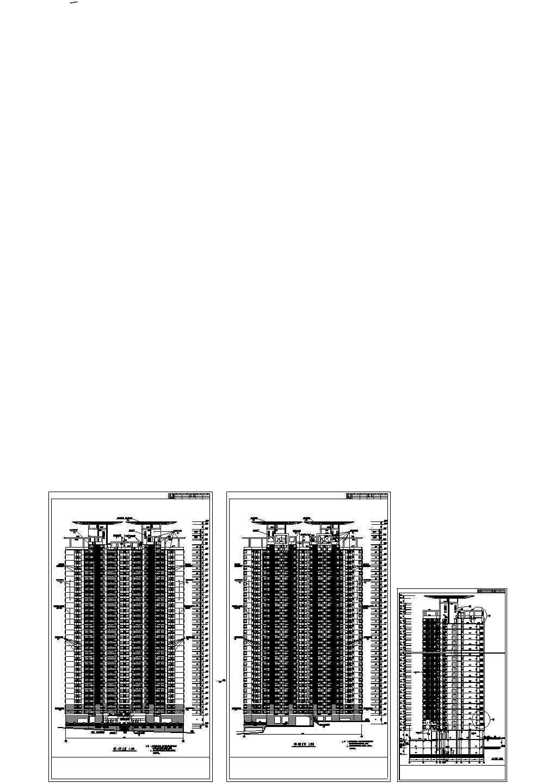 某高层住宅建筑立面图纸图片1