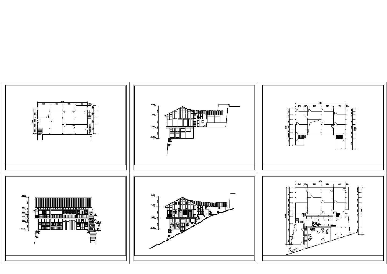 山地别墅CAD建筑图图片1