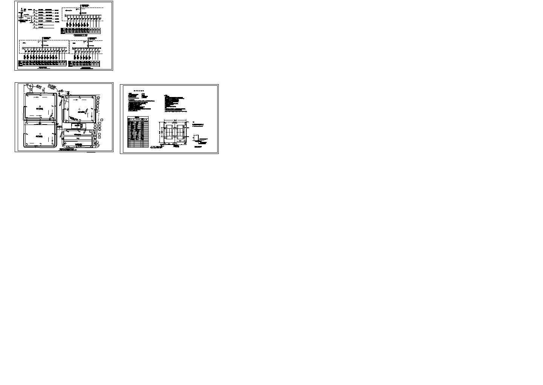 室外球场照明系统设计cad图,共六张图片1