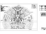 某景区圆形露天景观照明CAD布置图图片1