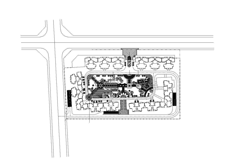 某广场景观设计cad图纸图片1