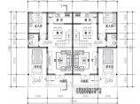 100平方米混合结构两户双联式建筑设计图图片1