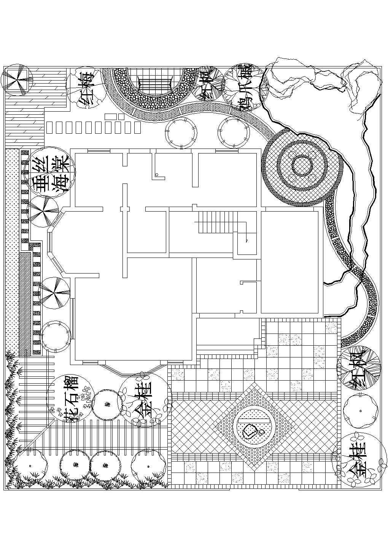 某精品别墅景观设计方案施工图图片1