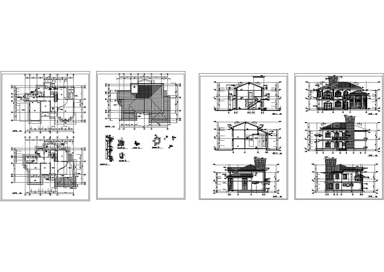 农村自建房全套施工设计cad图,含效果图图片1