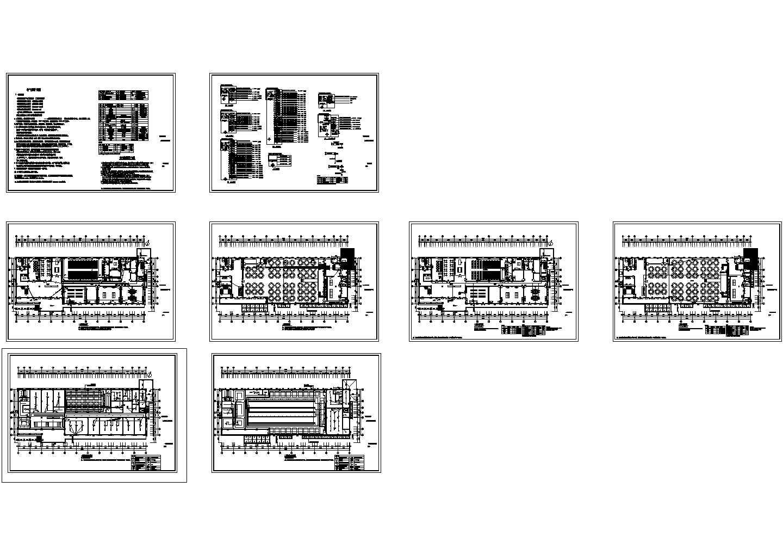 南葛村文山礼堂工程--装修及室外电气专业施工图纸图片1