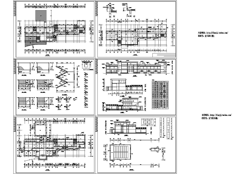 长62米宽32.6米二层幼儿园建筑设计图(含楼梯详图)图片1