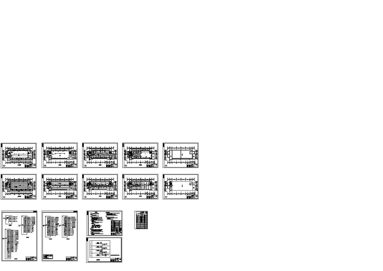 某四层物流园办公楼电气图纸图片1