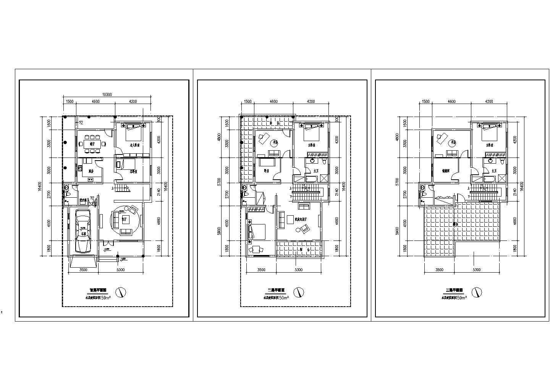 某地土框架结构住宅建筑设计施工图及效果图图片1