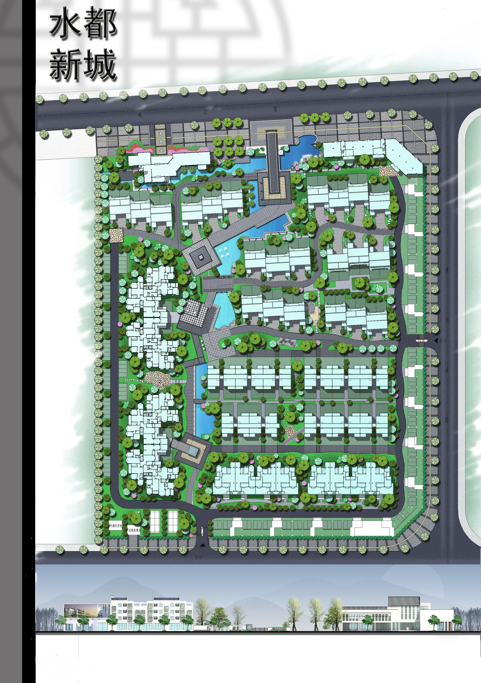 某小区园林中标设计方案(共9张)图片1