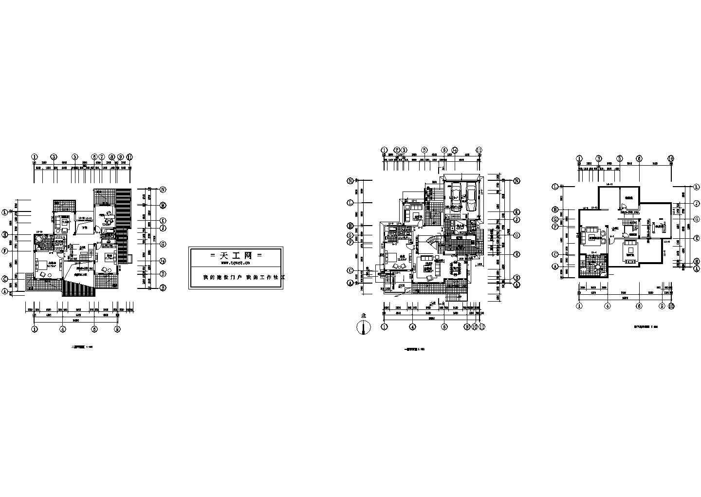 某带地下室小别墅建筑平面图图片1