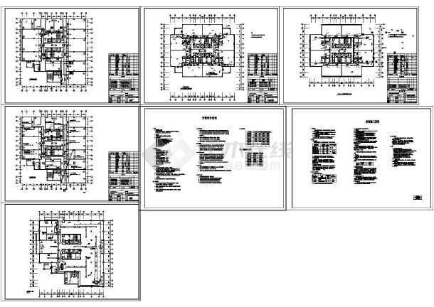 商场办公楼空调通风系统设计施工图(水环热泵系统)-图一