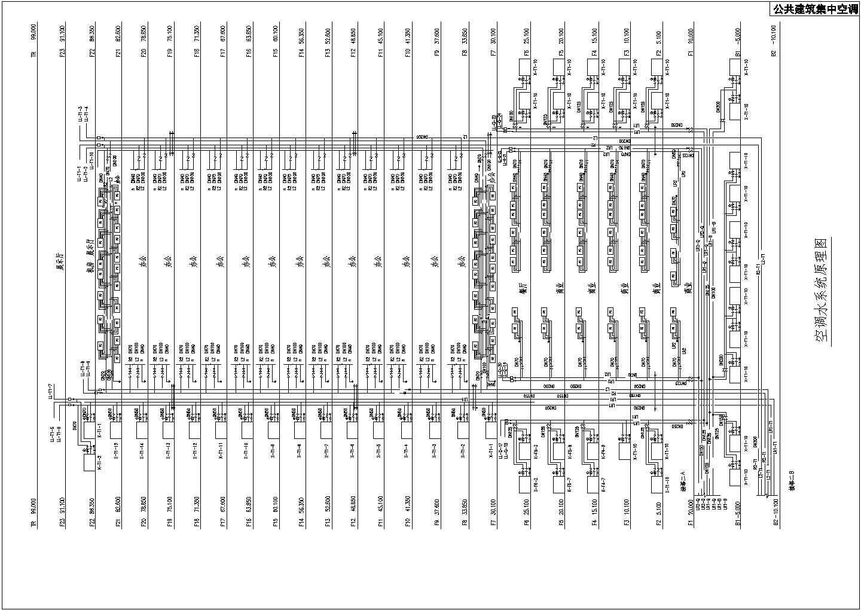 公共建筑集中空调空调水系统原理图图片1