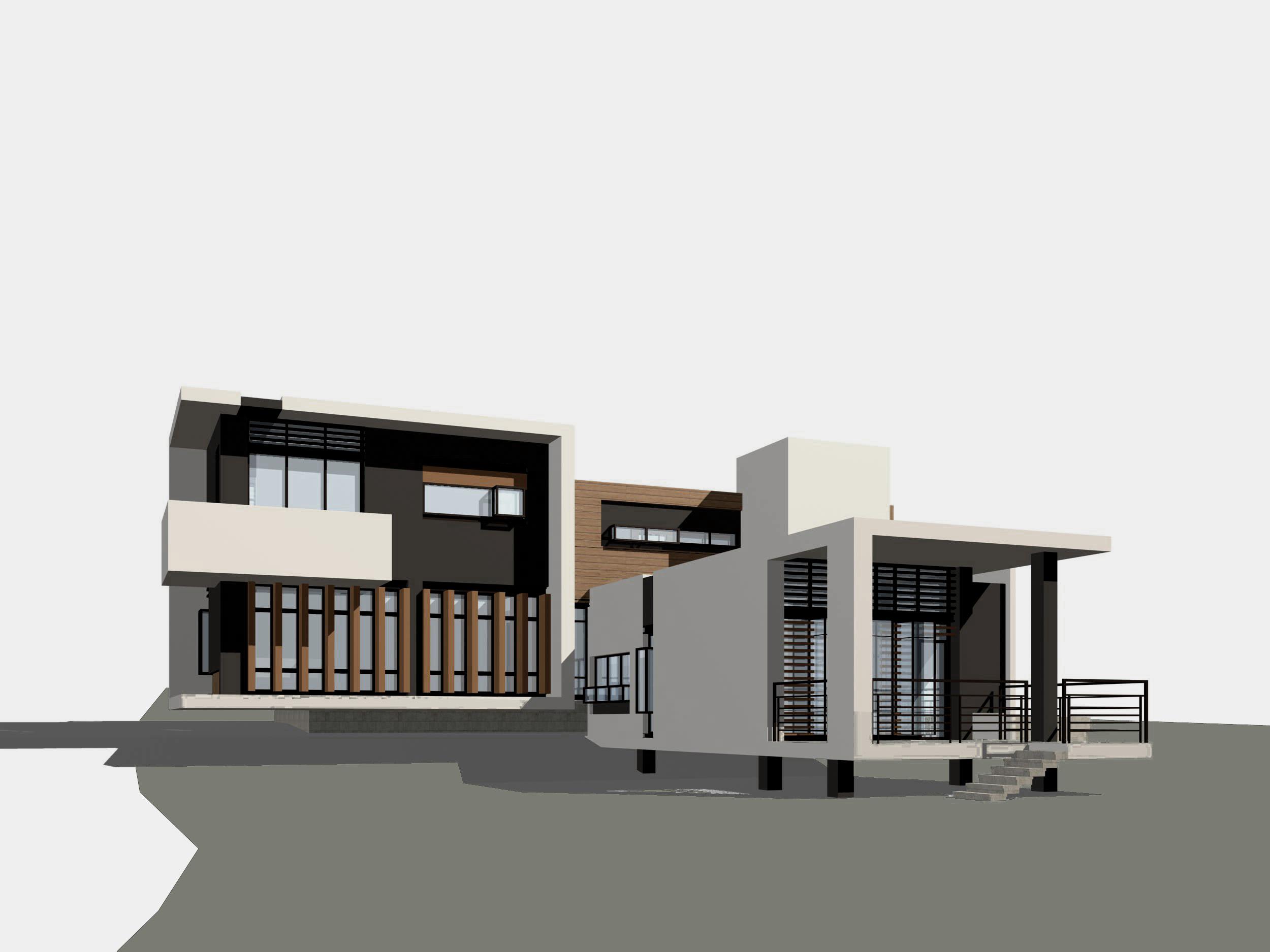 山地别墅建筑结构含效果图,共七张图片1