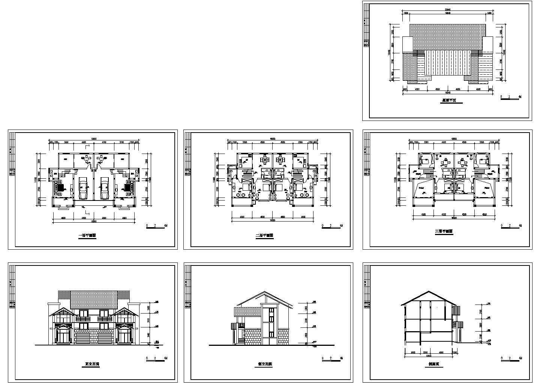 山地别墅住宅方案cad图图片1