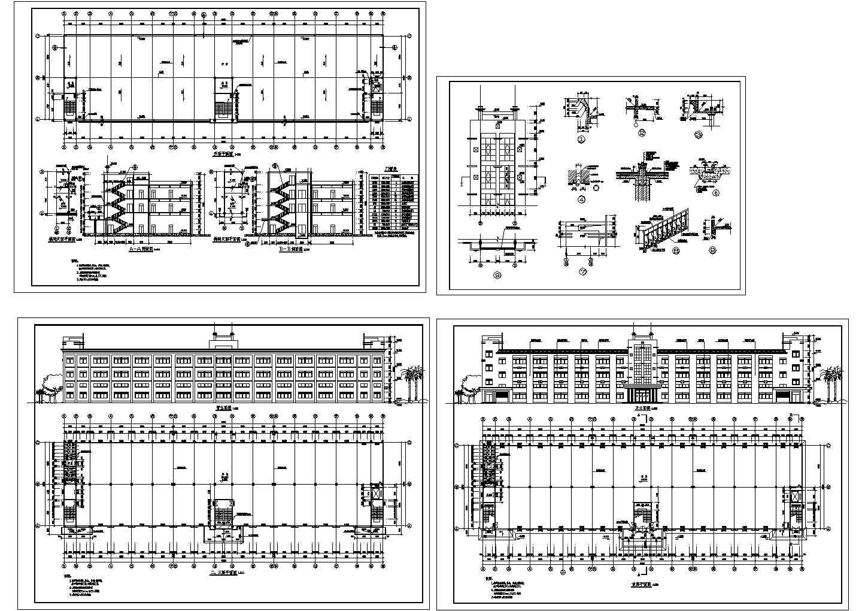 某地上三层厂房建筑施工图 图片1