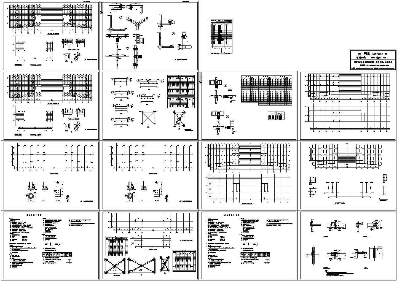 钢结构教学楼设计cad图,含设计说明图片1