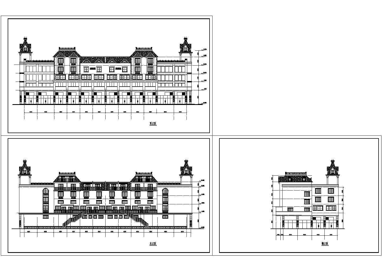 某四层商住建筑立面图图片1