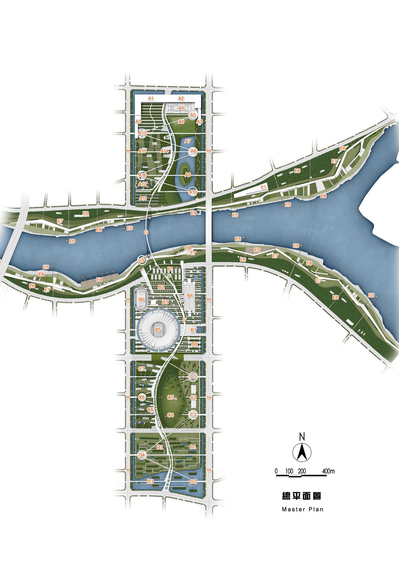 [佛山]中央公园与滨河公园规划设计方案图片1