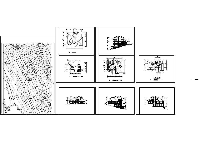某山地别墅设计cad建筑方案图图片1