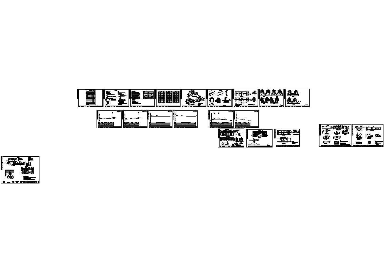某地区住宅小区道路施工cad设计方案图纸图片1