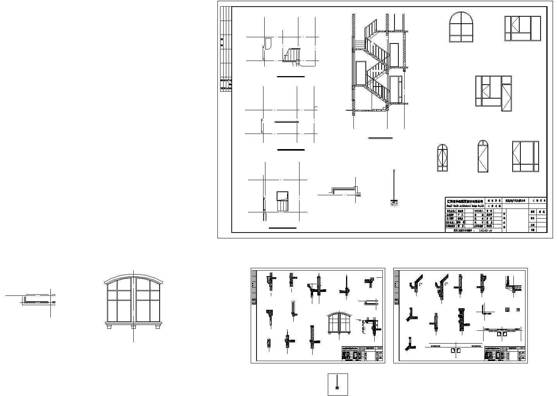 某三层经典别墅建筑结构水电施工图图片1