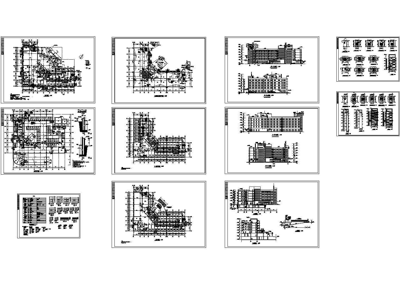 某5层疗养院全套建筑图纸设计图片1