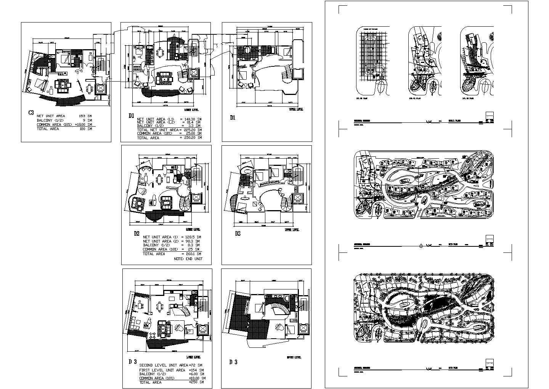 某地区国外风格别墅规划设计方案图图片1