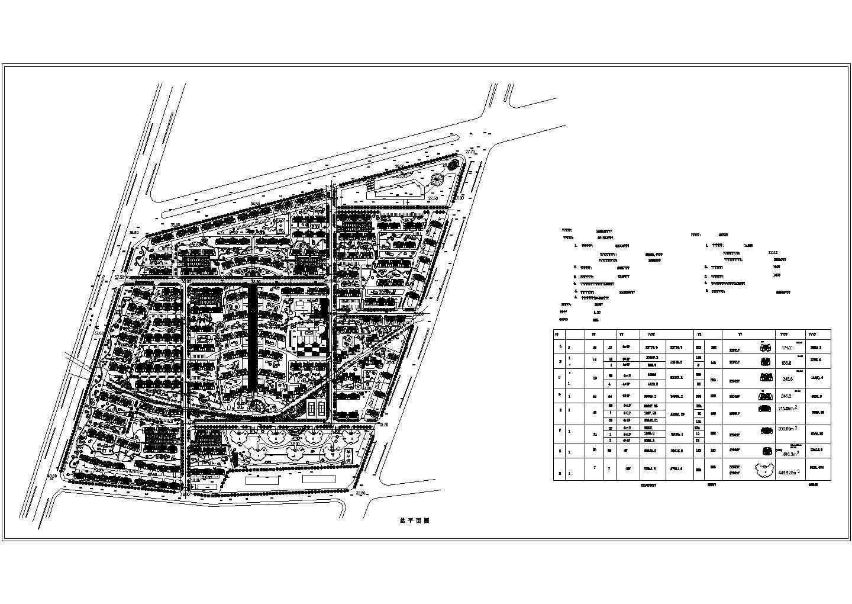 20套居民住宅小区总平面图图片1