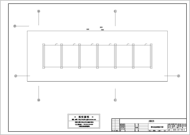 黑龙江铸造车间循环水泵房设计施工cad图图片1