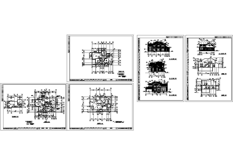 某地区绿城独立山地别墅建筑cad图图片1