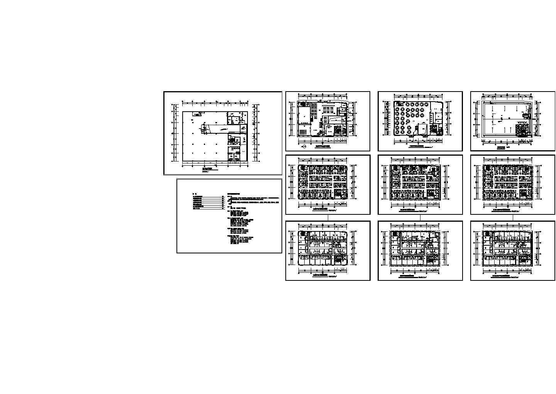 广州酒店式公寓住宅楼建筑施工平面设计图图片1