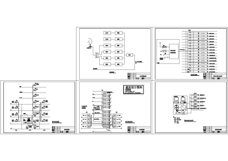 某单元楼智能化弱电系统图图片1