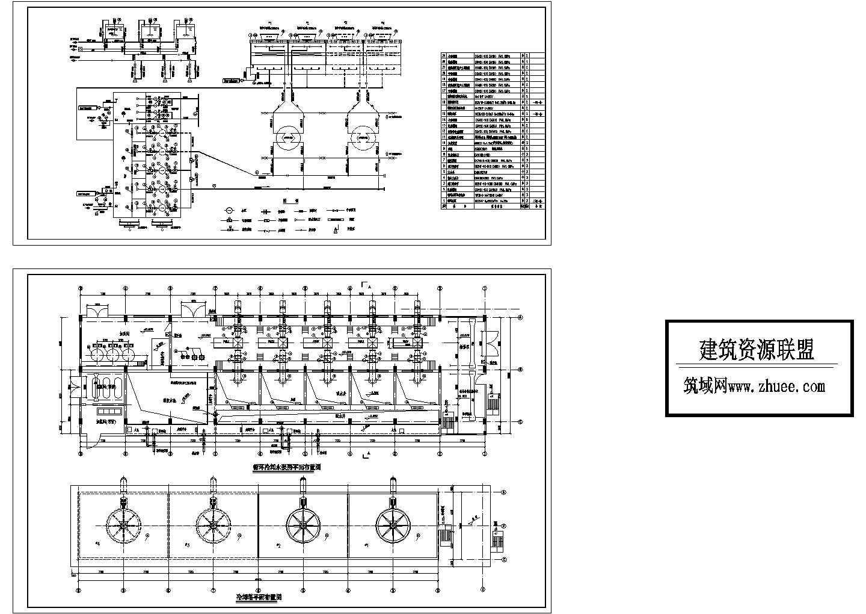 某电厂循环水泵房平面布置图图片1