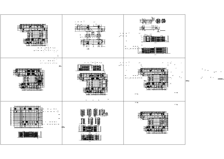 某大学教学楼施工图,共九张图片1