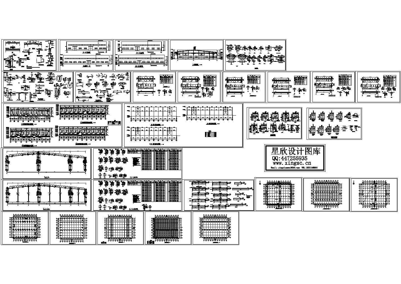 某电器厂钢结构厂房建筑结构施工图图片1