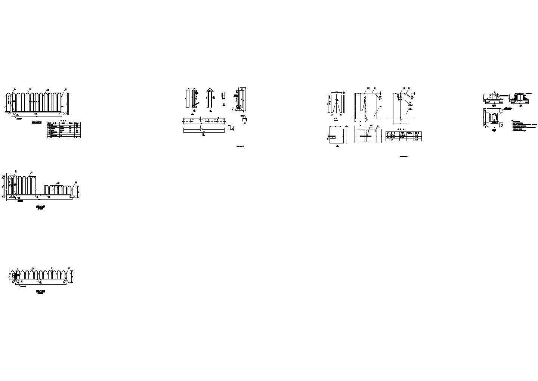 城市主干路新建道路中央护栏设计套图(12张)图片1
