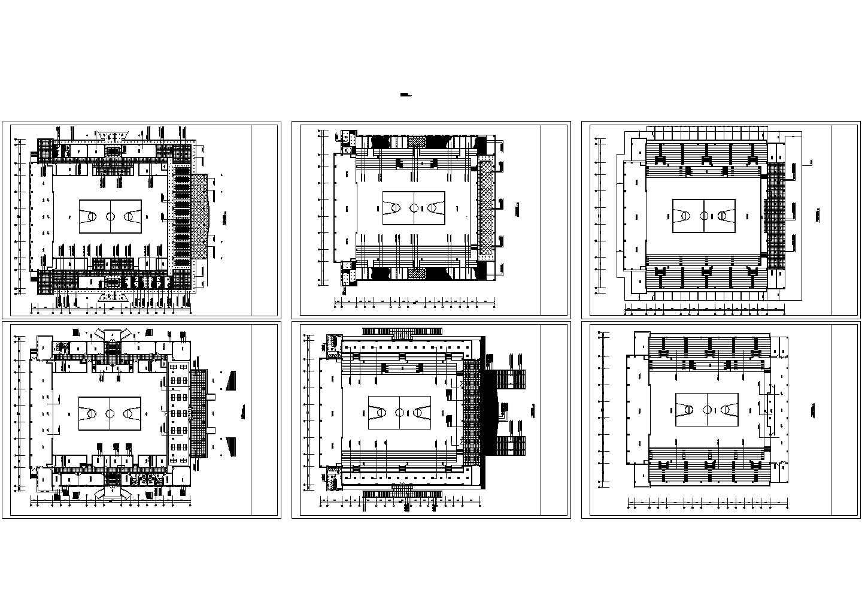三层体育馆装修设计图纸图片1