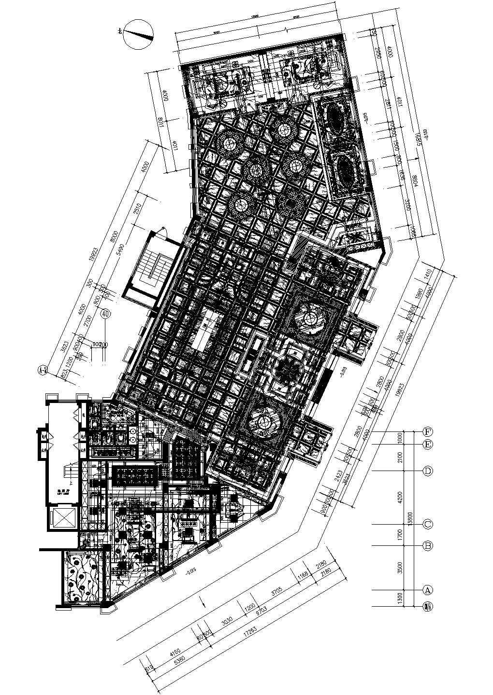 友邦皇家公馆售楼部和办公室装修CAD设计图纸图片1