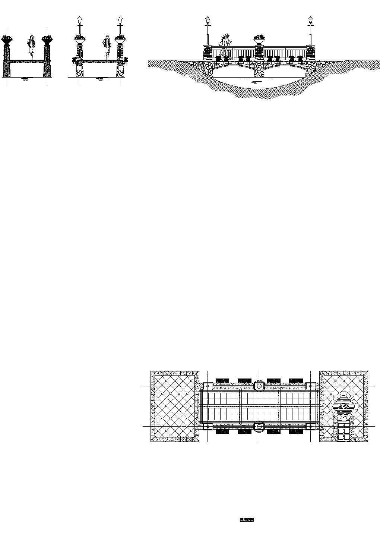 欧式景观桥CAD设计图图片1