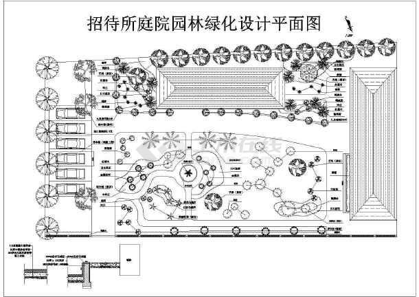 某园林装修设计平面施工图-图一