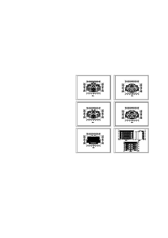 跃层楼住宅建筑图图片1