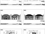 某地单体别墅建筑施工cad图纸,共六张含效果图图片1