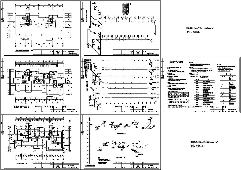 某地区12层区住宅楼给排水消防电气施工图图片1